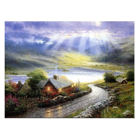 Printed Landscape Canvas Art with Stretched Frame