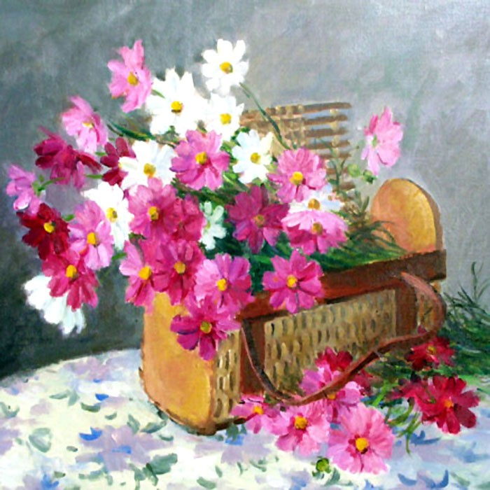 /881-1050/printed-flower-canvas-art-with-stretched-frame.jpg