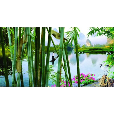 Landscape Printed Canvas Art with Stretched Frame