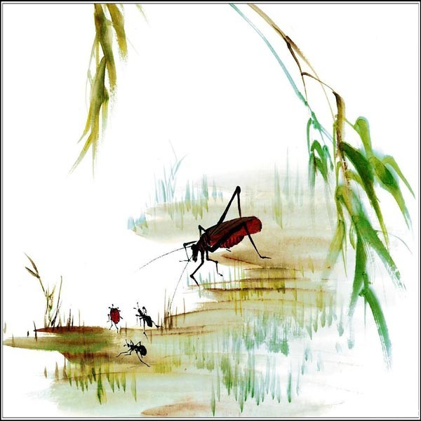/954-1123/small-insects-printed-canvas-art-with-stretched-frame.jpg