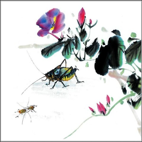 Small insects Printed Canvas Art with Stretched Frame