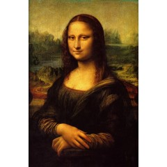 Printed Mona Lisa Canvas Art with Stretched Frame