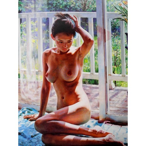 Naked girl Printed Canvas Art with Stretched Frame