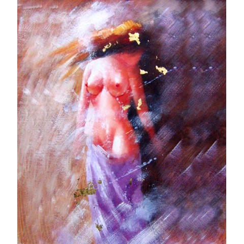 Printed Naked girl Canvas Art with Stretched Frame